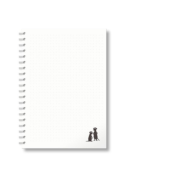 Notebook A5 - Ideas - Meerkats