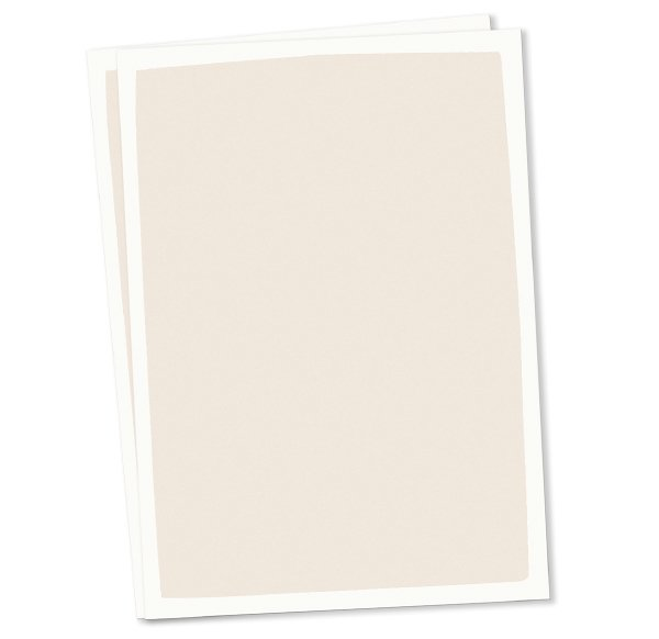 Set of 10 Plain Postcards - creme