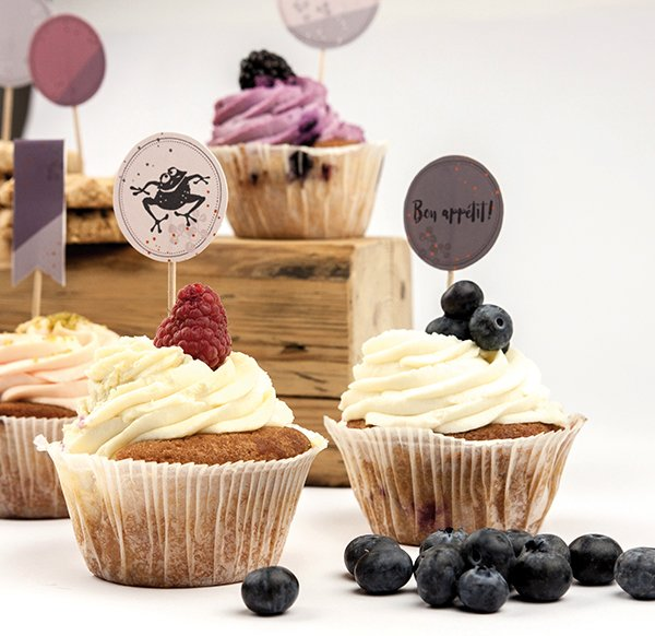 Cup Cake Decoration - Set 2