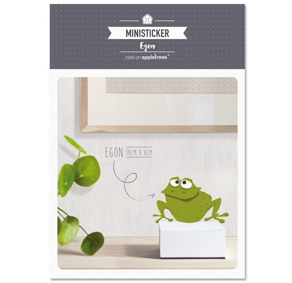 Ministicker A6 - Egon the frog