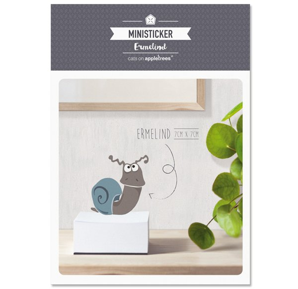 Ministicker A6 - Ermelind the Snail