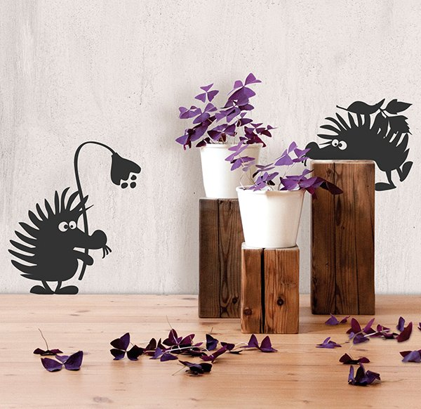 Wallsticker Hedgehogs