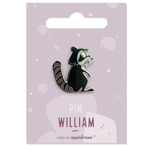 Pin William the Racoon