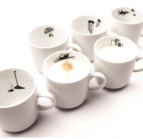 Porcelain Cups - Set of 6