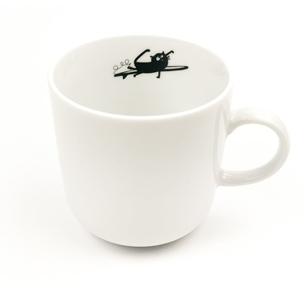 Porcelain Mug - surfing cat Friedegunde