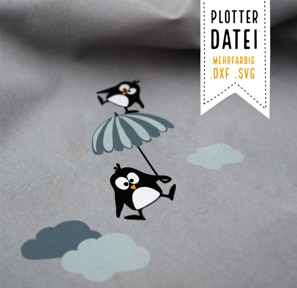 Plotter File Set: Oscar & Ole the penguins