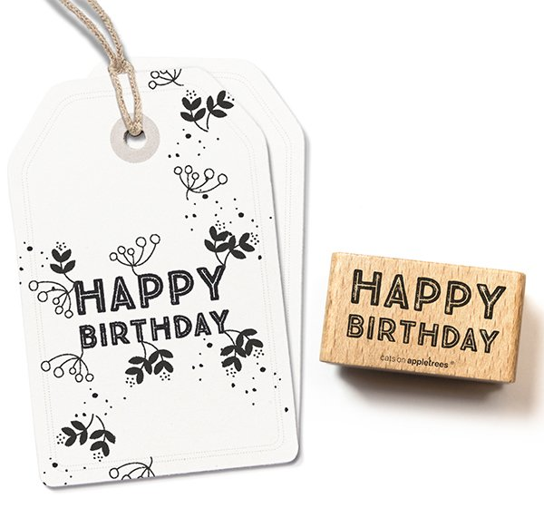 Stempel Happy Birthday 6