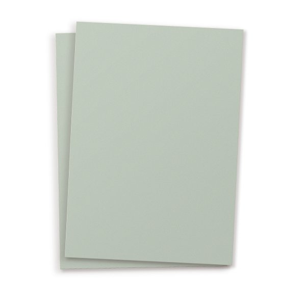 Set of 10 Plain Postcards - pale green