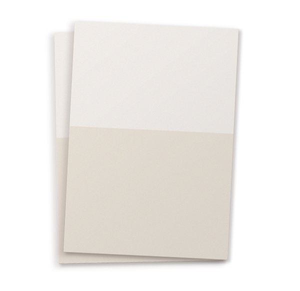 Set of 10 Plain Postcards - light sand