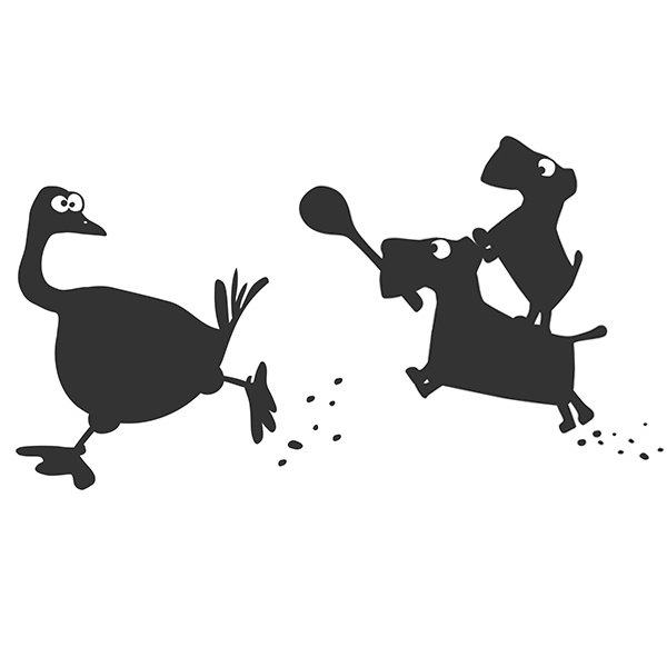 Wallsticker Goose on the Run