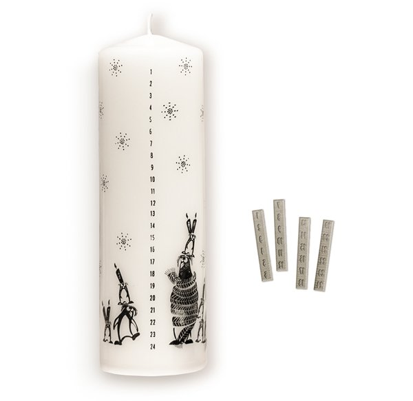 Advent Candle Numbers Stamp-Set M (rubber only)