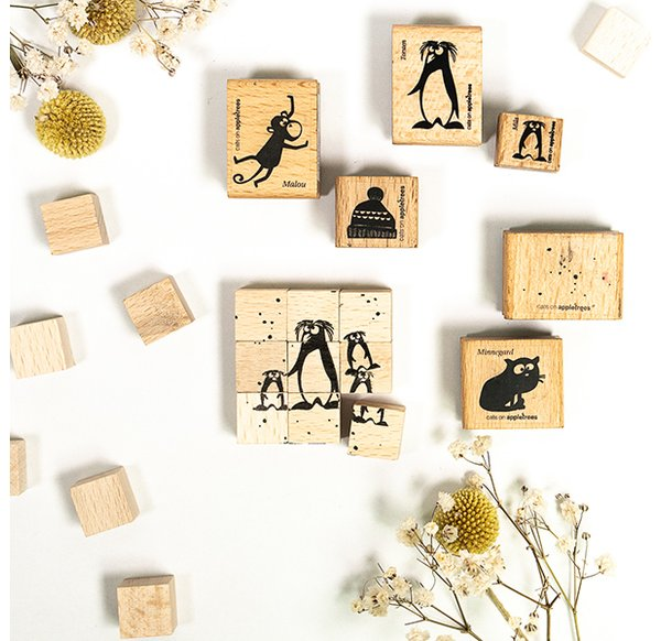Wooden Cubes Set - Size S