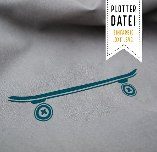 Plotterdatei Skateboard
