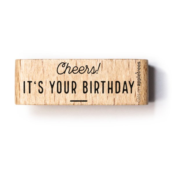 Stamp Cheers its your birthday