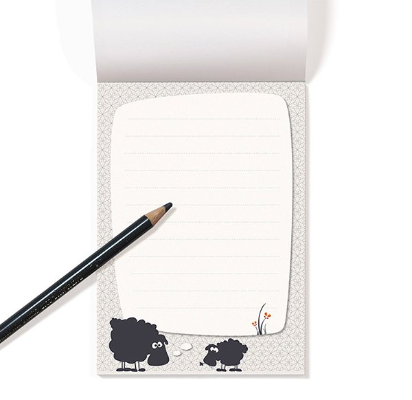 Notepad A6 - Sheep