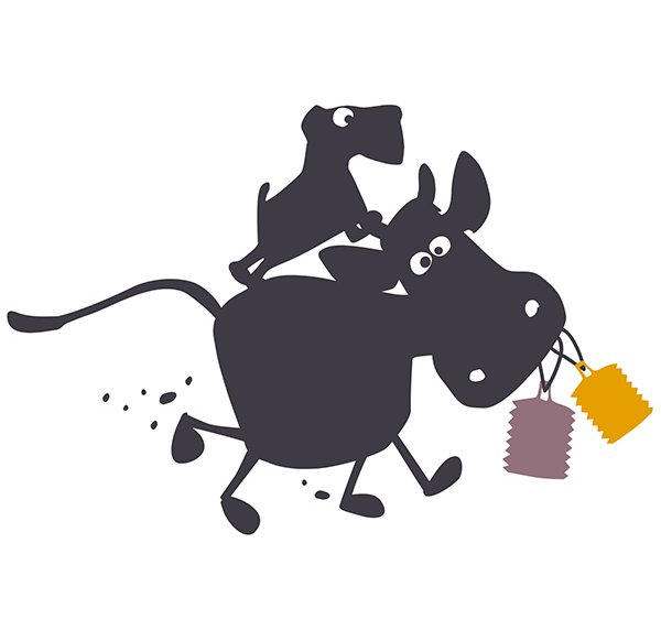 Wallsticker Cow on the Run