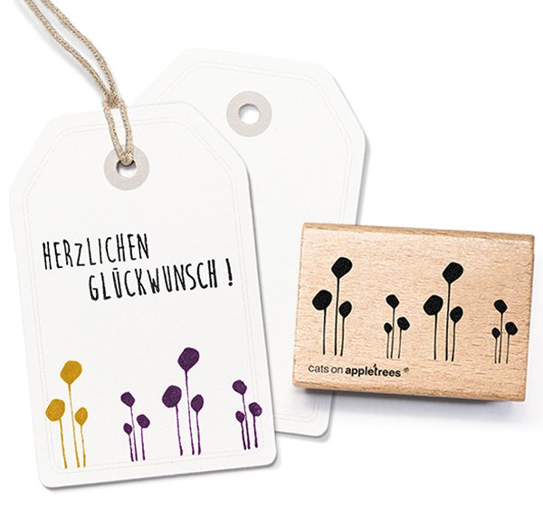 Stempel Reihung floral
