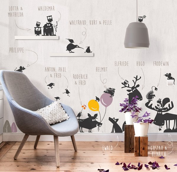 Wallsticker Gustav the Squirrel