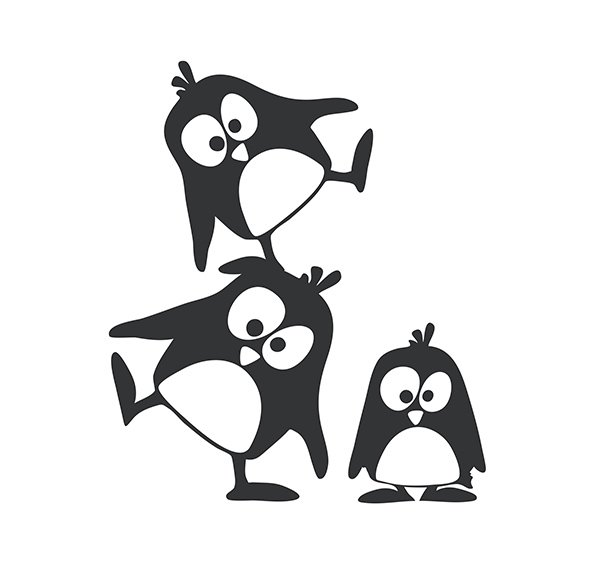 Wandsticker M - Pinguine