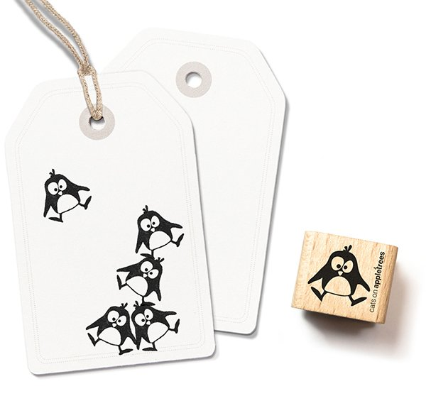 Stamp Penguin Ole (jumping)
