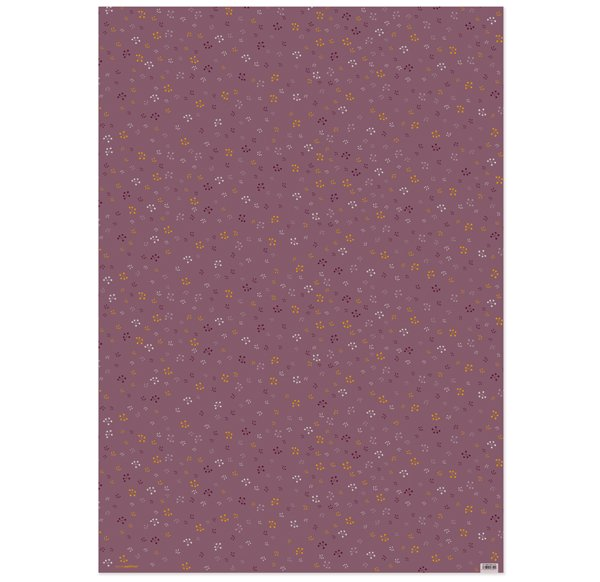 Wrapping Paper V15 - purple flowers